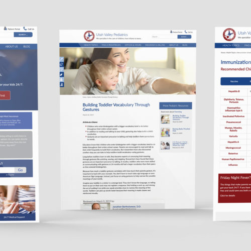 medical clinic website development
